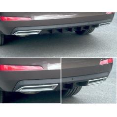 Atrapa výfuka ABS - strieborný matný Škoda Octavia III Limousine, Combi