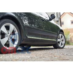 Škoda Octavia II 2004-2013 - dekoratívne nerez chrom bočné dverové lišty Omtec
