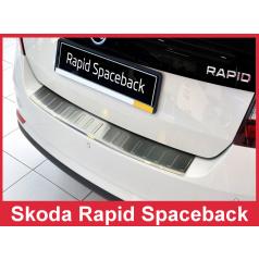 Nerez kryt- ochrana prahu zadného nárazníka Škoda Rapid Spaceback 2013-16