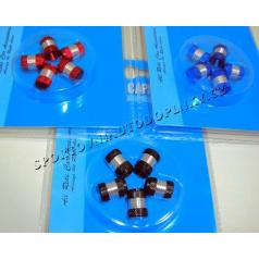 Čiapočky na ventilky II červené, modré, čierne