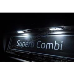 Škoda Superb II Combi Mega Power LED osvetlenie ŠPZ