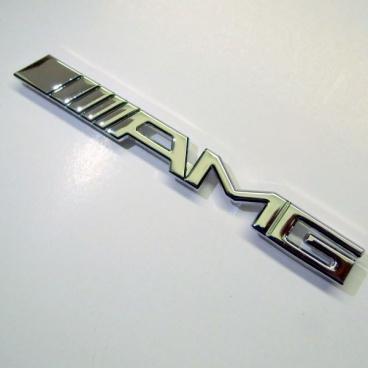 Znak chróm AMG do prednej masky kovový