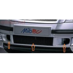 Škoda Octavia II spodná mriežka nárazníka s bočným saním - ABS čierny, mriežka - čierna