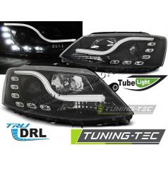VW Jetta VI 1.2011- predné číre svetlá Tube Light TRU DRL black (LPVWL5)