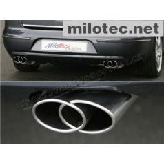 """Dvojstranný koncový tlmič výfuka """"Free Flow"""" 2x75x160mm, Škoda Superb II"""