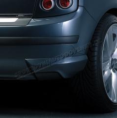 Body-Kit zadné rozšírenie nárazníka ABS-čierny Škoda Fabia Limousine Facelift