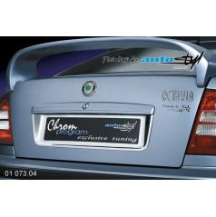 Rámček registračnej značky zadné - chróm Škoda Octavia I
