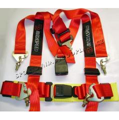 4-bodové bezpečnostné pásy MAZDA SPEED červené