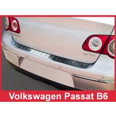 Nerez kryt ochrana prahu zadného nárazníka Volkswagen Passat B6 2005-10