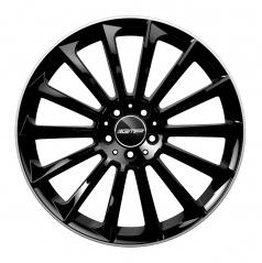 Alu koleso GMP STELLAR black 9,0x22 5x130 ET50