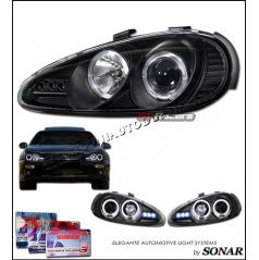 Mazda MX3 92-96 Halo Projector black - celá sada 2 ks - DOPRODEJ