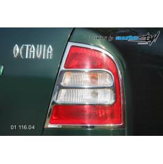 Rámček zadných svetiel - chrom Škoda Octavia I 2001+