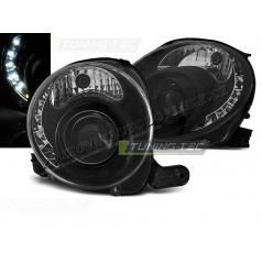 Fiat 500 2007- predná číra black LED (LPFI24)