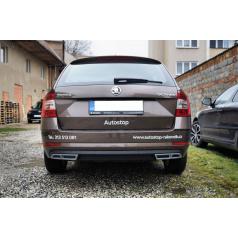 Nadstavce zadného difúzora - RS exhaust alu look Škoda Octavia III