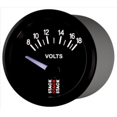 Stack elektronický budík voltmeter 52 mm ST3216