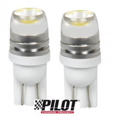 2 ks žiaroviek Hyper LED T10 12V 5W - optické sklo v hornej časti