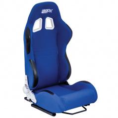Športová polohovateľná sedačka Race Sport látková modrá