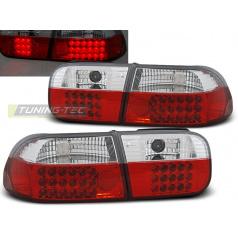 Honda Civic 09.91-08.95 2d/4d zadní lampy red white LED (LDHO07)