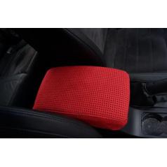 Škoda Octavia III - poťah lakťovej opierky z pravej Alcantary - red perfo, red