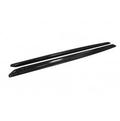 Škoda Superb III - bočné prahy DTM z ABS plastu - glossy black