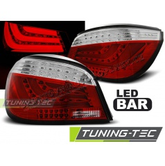 BMW E60 07.2003-02.2007 zadné lampy red white LED BAR (LDBMC3)