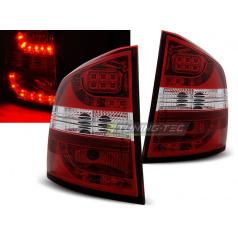 Škoda Octavia 2 kombi 2004-12 zadné LED lampy red white (LDSK03)