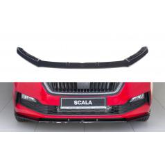 Spoiler pod predný nárazník ver.2 pre Škoda Scala, Maxton Design (čierny lesklý plast ABS)