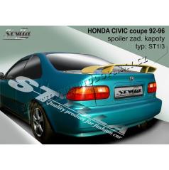 HONDA CIVIC coupe 92-96 spoiler zad. kapoty (EU homologace)