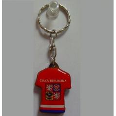 Kľúčenka drevená - český hokejový dres