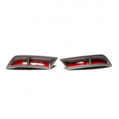 Spoilery zadného difúzora - atrapy výfuka Turbo design Glowing red - Škoda Octavia III