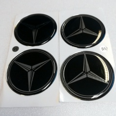 Znak Mercedes průměr 55 mm, 4 ks