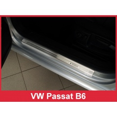 Nerez ochranné lišty prahu dverí 4ks Volkswagen Passat B6 2005-10