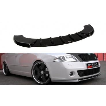 Spoiler pod predný nárazník RS pred faceliftom pre Škoda Octavia RS Mk2, Maxton Design (čierny lesklý plast ABS)