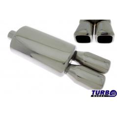 Sportovní výfuk TurboWorks dual hranaté koncovky