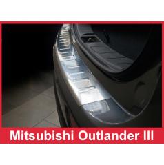 Nerez kryt- ochrana prahu zadního nárazníku Mitsubishi Outlander III 2012-15