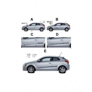 Ochranné bočné lišty na dvere, Škoda Fabia III, 2015+