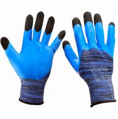 Pletené pracovné rukavice s latexovou hornou časťou veľ. 10