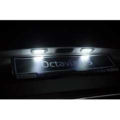 Mega Power LED osvetlenie ŠPZ Škoda Octavia III
