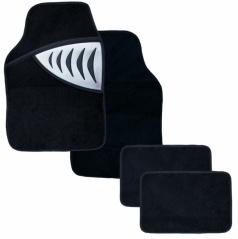 Autokoberce textilné - Shark - univerzálne strieborné