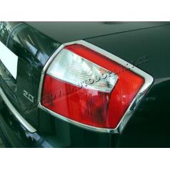 AUDI A4 2001-04 Chróm rámček koncových svetiel 2 ks