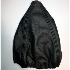 Manžeta řadící páky z pravé kůže černá (zdvojený černý šev)