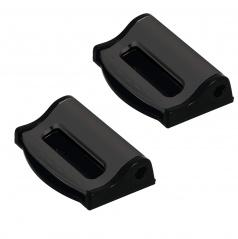 Zarážka bezpečnostních pásu černé - 2 ks