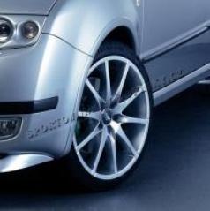 Lemy blatníkov, ABS strieborné matné, Škoda Fabia Combi, Sedan