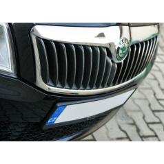 Nerez chrom výplne masky - Omsa line Škoda Octavia II Facelift 09-11