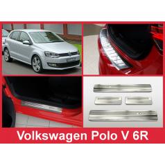 Nerez kryt zostava ochrana prahu zadného nárazníka + ochranné lišty prahu dverí VW Polo V 6R 2009-14