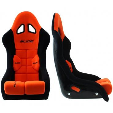 Športová pevná škrupina SLIDE GT čierna / červená (FIA homologácia)
