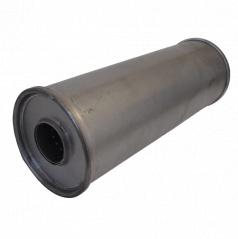 Univerzálny oceľový výfukový tlmič š145 x D400 mm (55 mm vstup)