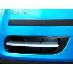Lišty (bez hmlových svetiel) - ABS strieborné matné, Roomster, Fabia II