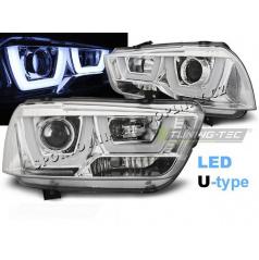 Dodge Charger LX II 2011-15 predné číre svetlá Tube Light Chrome (LPDO13)