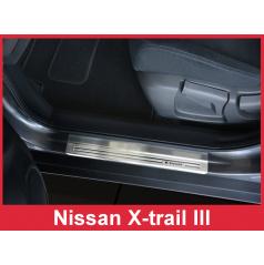 Nerez ochranné lišty prahu dveří 4ks Nissan X-Trail 3 2013-17